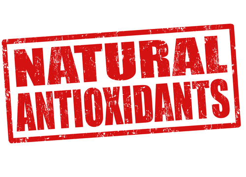 Natural antioxidants stamp