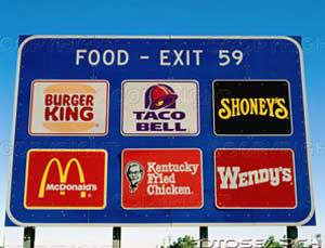 fast-food-exit-sign